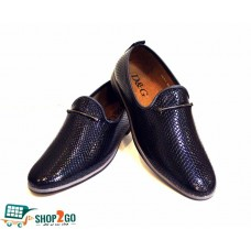 Navy Blue Long Shoes for Men - Code: B-8421