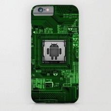 Green Android Printed Mobile Cover