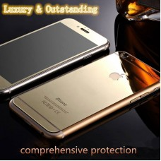 Luxury Front+Back Mirror Tempered Glass Protector for iPhone 6 - GOLD