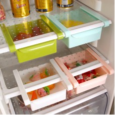 Plastic Kitchen Fridge Storage Rack Freezer - Shelf Holder - Kitchen Organization