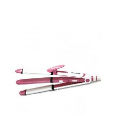 Shinon SH-8088 - Hair Straightener - 3 in 1 - Pink & White