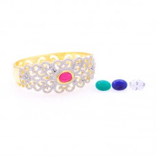 Glorious Bracelet with four different colors of changeable stones