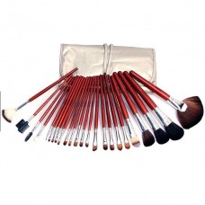 24 Pieces Naked 6 Brush Set With Leather