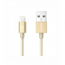 Anker MFI USB To Lightning Nylon Cable 3ft Pure Golden