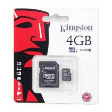 Kingston 4GB - Micro SD Memory Card - Black