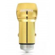 Remax Fast Car charger - 2.4A - Dual USB Ports - Gold