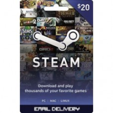$20 Steam Gift Card (Worldwide)