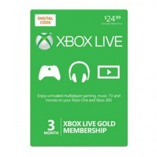 Xbox Live 3 Month Gold Membership NTSC (Online Delivery) USA