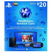 PSN 20$ Card for Ps3 - Ps4 - PsVita (UAE Region)