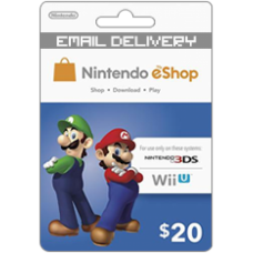 20 Nintendo Eshop for Wii U and 3DS (Online Delivery)