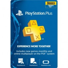 PlayStation Plus 3 Months Membership Card for Ps3 - Ps4 - PsVita (UK Region)