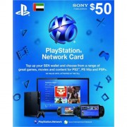 PSN 50$ Card for Ps3 - Ps4 - PsVita (UAE Region)