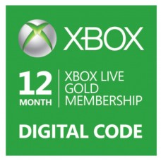12 Month Membership - Xbox Live Gold Subscription Card (Online Delivery)