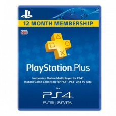 PlayStation Plus 1 Year Membership Card for Ps3 - Ps4 - PsVita (UK Region)