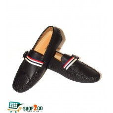 Black Leather Loafers for Men -Code: B-3942