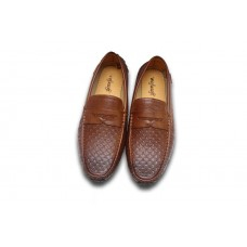 Brown Leather Loafers for Men: Code: F118