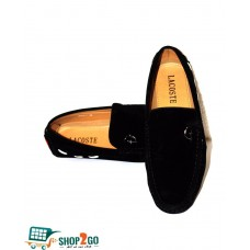 Black Leather Loafers for Men - Code: B-8622