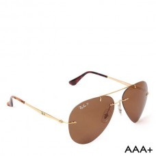 Aviator Light Ray Polarized - RB-4006 - Golden / Havana - Brown
