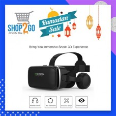 VR Glasses With Hifi Headphone And Touch Button For Screen Input