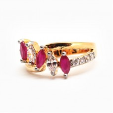 Desirable Ruby Golden Ring