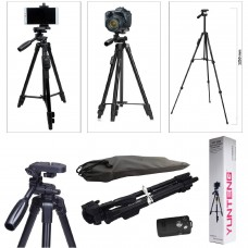 Tripod 50 inch, YUNTENG  Lightweight Aluminum Tripod with Bluetooth Shutter + Carry Case for Mobile Phones and Cameras