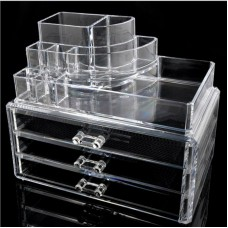 Drawer & 1 Makeup Tray Acrylic Makeup Organizer