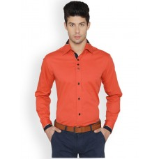 Orange Mens Casual Shirt - S-7894