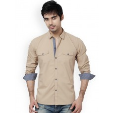 Khaki Mens Casual Shirt - S-7895