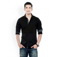 Black Mens Casual Shirt - S:7897
