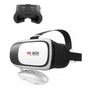 VR 2.0 VR BOX II 2.0 VR - Virtual Reality 3D Glasses & Bluetooth Gamepad - White & Black